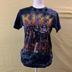 🎸KISS Navy Blue Tie-Dye Graphic Tee🎸